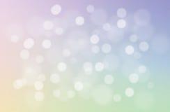 Мягкая и сладостная пастельная абстрактная предпосылка градиента Запачканные естественные обои конспекта bokeh Свет рождества Стоковые Изображения