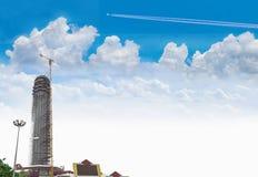 Мягкая структура фокуса, здание, строительный проект Roi Et обсерватории города, общественные имущества в Roi et провинция, стоковые изображения rf