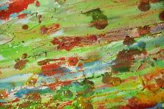 Мягкая тинная предпосылка апельсина зеленого цвета акварели Стоковая Фотография