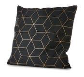 Мягкая черная изолированная подушка, Стоковая Фотография RF