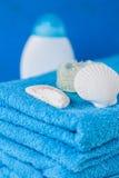 Мягкие голубые полотенца Стоковая Фотография RF