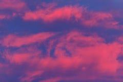 Мягкие облака горячего пинка Стоковое фото RF