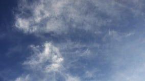 Мягкие облака на красивом голубом небе, съемке наклона, полном HD 1920x1080 сток-видео
