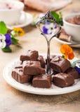 Мягкие помадки шоколада нуги Стоковое Изображение