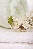 Полотенца с цветками Стоковое Изображение RF