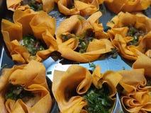 Мягкие сырцовые tartlets сыра коз Стоковая Фотография