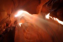 Мягкие тени и света в каньон антилопы стоковые изображения rf