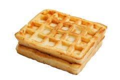 Мягкие waffles изолированные на белизне Стоковые Изображения RF