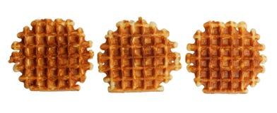 Мягкие waffles изолированные на белизне Стоковая Фотография