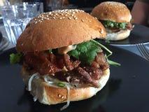 Мягкий бургер краба раковины в Мельбурне Стоковое Изображение RF