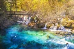 Мягкий водопад в утре Стоковое Изображение RF