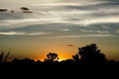 Мягкий заход солнца Стоковая Фотография
