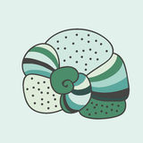 Мягкий зеленый абстрактный seashell Стоковая Фотография RF