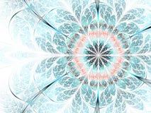 Мягкий и светлый цветок фрактали Стоковая Фотография