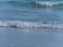 Мягкий край морской воды, конец вверх по съемке Стоковая Фотография