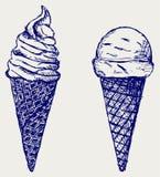 Мягкий льдед подачи иллюстрация вектора