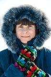 Старший портрет зимы женщины Стоковое фото RF