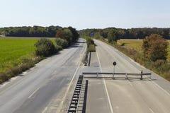 Мягкий уголь - в прошлом автобан A4 около Kerpen-Buir Стоковые Фото