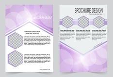 Мягкий фиолетовый дизайн рогульки шаблона брошюры иллюстрация вектора