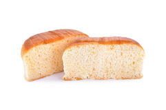 Мягкий хлеб губки на белой предпосылке Стоковая Фотография RF
