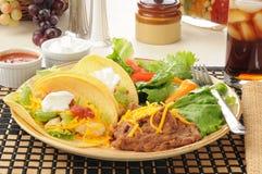 Мягкий tacos цыпленка Стоковая Фотография RF