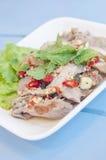 Мягким отрезанный фокусом зажаренный салат говядины Стоковые Фотографии RF