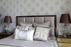 Мягкое украшение в витринном шкафе спальни Стоковое Изображение RF