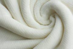 Мягко белая предпосылка свирли одеяла Стоковое фото RF