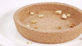 Мякиши и хлеб печенья сток-видео