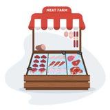 Мясной рынок фермы Свежая здоровая еда Говядина, свинина бесплатная иллюстрация