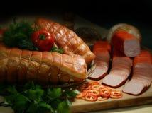 мясные продукты курили Стоковая Фотография
