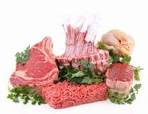 мясо ассортимента сырцовое Стоковая Фотография
