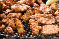мясо барбекю свежее смешало стоковое изображение