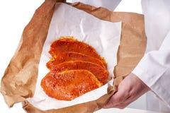 мясо барбекю сырцовое Стоковая Фотография RF