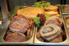 мясо быстро-приготовленное питания Стоковое фото RF
