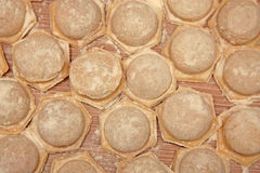 мясо вареников сырцовое стоковое фото rf