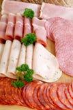 мясо вырезывания хлеба доски Стоковое Изображение RF