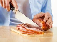 Мясо вырезывания Стоковое фото RF