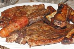 Мясо гриля стоковая фотография