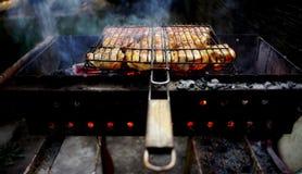 Мясо зажарено на гриле стоковые фото