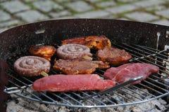 Мясо зажарено стоковое изображение rf