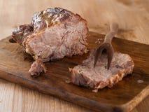 мясо зажарило в духовке Стоковые Изображения