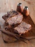 мясо зажарило в духовке Стоковое фото RF