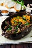 Мясо испеченное с тыквой и специями Стоковое Изображение RF