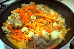 Мясо и морковь стоковая фотография rf