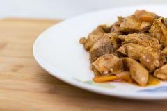 Мясо и овощи на блюде Стоковое Изображение RF