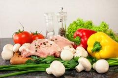 Мясо и овощи Стоковое Изображение RF