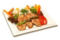 Мясо и овощ цыпленка Стоковое Изображение RF