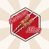 Мясо и протыкальники иллюстрация штока