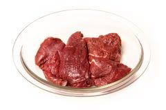 Мясо кенгуру изолированное на белой предпосылке студии Стоковое фото RF
